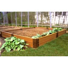 fall raised garden bed timber creative landscape timber raised
