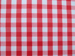 decor red square gingham tablecloth for dining table decoration