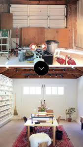 before after a garage becomes a beautiful studio space design before after garage becomes a beautiful studio space design sponge
