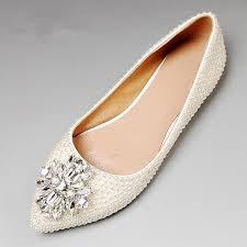 wedding shoes flats pearl wedding shoes flat heel wedding dress