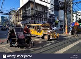 philippine jeep philippines luzon island manila ermita district jeepney stock
