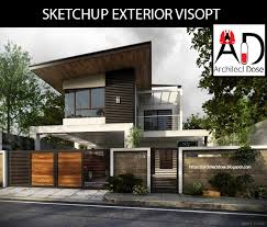 sketchup exterior and interior visopt on behance