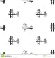 golden gate bridge icon in black style isolated on white