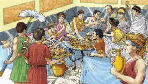 banchetti antica roma roma
