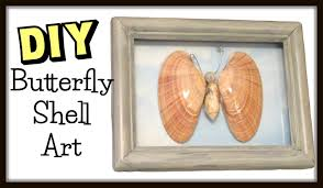 diy easy butterfly shell art beach craft how to series youtube