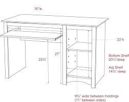 Height Of A Computer Desk Proper Computer Desk Height Standard Computer Table Height