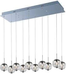 Orb Ceiling Light Et2 E24256 91pc Orb 10 Light 11 Inch Polished Chrome Pendant