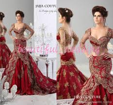 luxury 2015 sheer crystal red formal wedding dresses lace applique