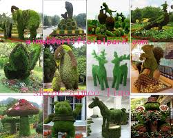 q121012 outdoor decorations topiary artificial animal topiary