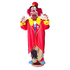 5 u0026 039 animated walking clown scary circus jester moving tongue