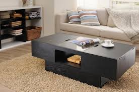 black coffee table with storage hidden storage side table contactmpow
