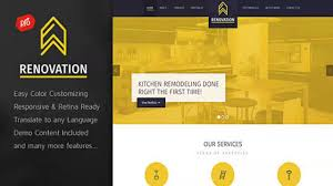 renovation construction company theme website templates and