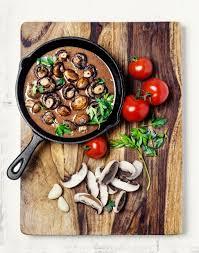 sauteed mushrooms and broccoli rabe