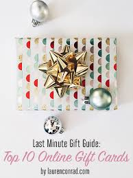 on line gift cards last minute gift guide top 10 online gift cards conrad
