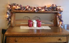 lighted primitive homespun burlap americana rag garland
