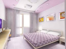 Paris Designs Purple POP False Ceiling Designs For Bedrooms With - Ceiling design for bedroom