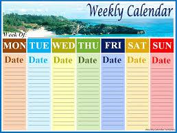 word calendar samples