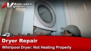 whirlpool gew9250pw0 dryer repair u2013 not heating u2013 element