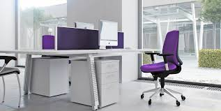 Modern Office Furniture Chairs Captivating Modern Office Chair With Soft Purple Fabric Mixed With