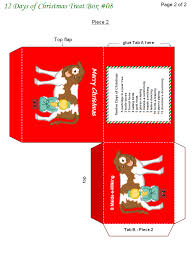 7 best images of christmas printable treat boxes free printable