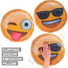 new flipping sequin pillows with emoji faces flip the sequins