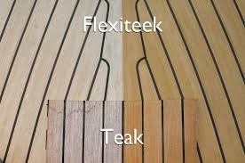 plastic as a teak substitute for boat decking flexiteek