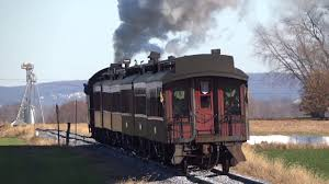 strasburg railroad steam engine past red caboose motel youtube