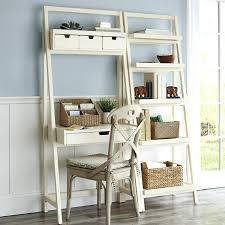 Leaning Ladder Shelf White Ladder Shelf Desk Uk Ladder Shelf Bookcase With Desk White Leaning