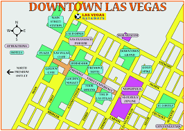 Las Vegas Zip Codes Map by Las Vegas Strip Distance Map 3595 Las Vegas Blvd South Las Vegas