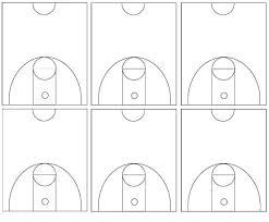 best photos of basketball court template in word half court