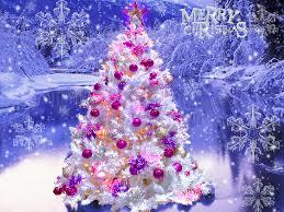 beautiful christmas tree snows u2013 happy holidays