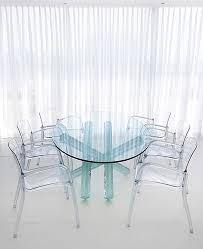 gorgeous round acrylic dining table innovative ideas clear
