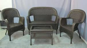resin wicker outdoor furniture clearance classic coastal 7 piece