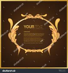 abstract golden vintage ornamental text box stock vector 125009981
