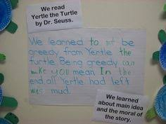 yertle the turtle central message anchor charts pinterest