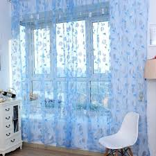 blue sheer curtains u2013 teawing co