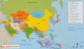 Asia Geography Map Science At Geography 6th Grade