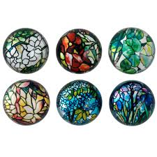 louis c tiffany stained glass domed magnets the met store