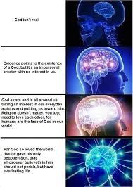 God Meme - god is real expanding brain meme dust off the bible