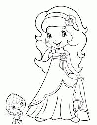 strawberry shortcake princess coloring pages