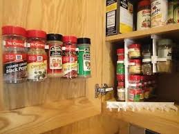 Cabinet Door Clips Spicestor Organizer Rack 20 Cabinet Door Spice Clips Free Shipping