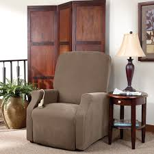 Slipcover For Dual Reclining Sofa Sure Fit Recliner Slipcovers Things Mag Sofa Chair Bench