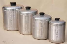 vintage kitchen canister sets kitchen canister vintage spun aluminum canisters mid century retro