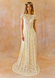 wedding dresses in simple lace low back wedding dress dreamers and