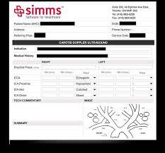 carotid ultrasound report template simms custom templates