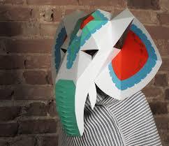 paper halloween mask elephant head mask with halloween mask decor diy paper