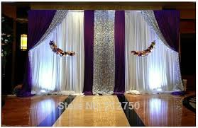 wedding backdrop aliexpress aliexpress buy express free shipping white purple paillette