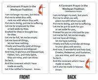methodist prayer wesley covenant prayer card traditional contemporary package of 25