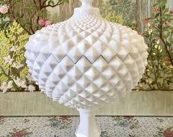 Milk Vases For Centerpieces by Large Pedestal Vase Etsy