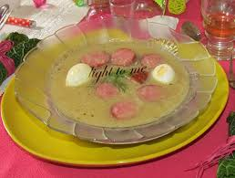recette cuisine polonaise zurek ou soupe polonaise à la saucisse 228kcal light to me